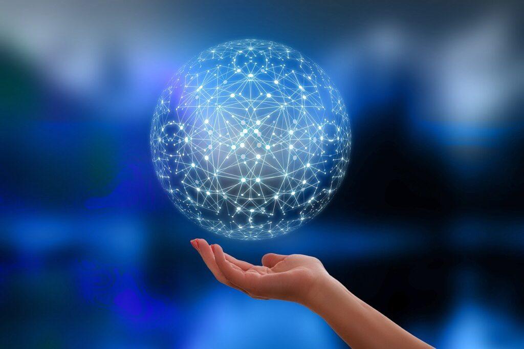 network, earth, block chain